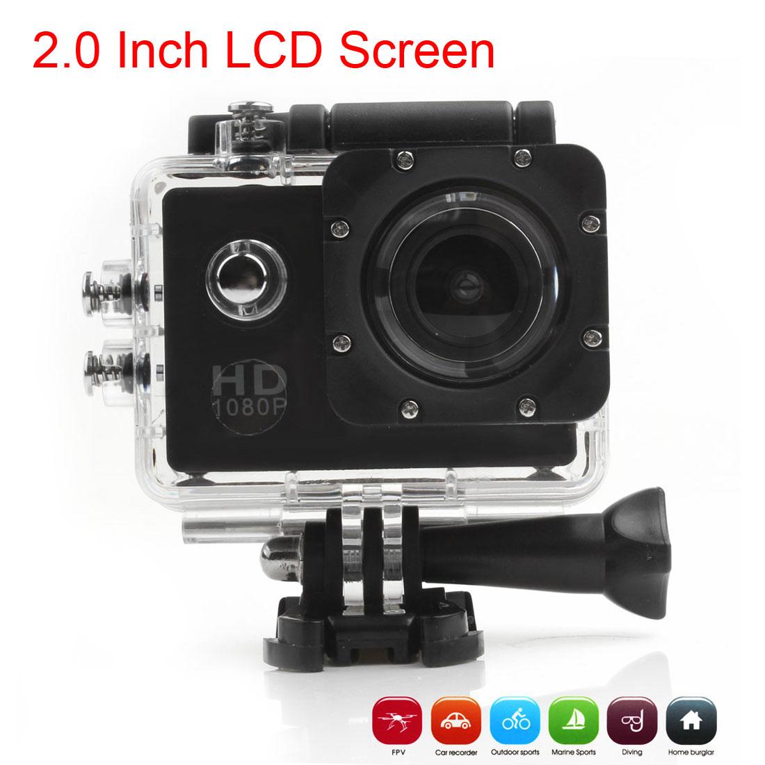 Akční Full HD kamera 1080P, vodotěsná