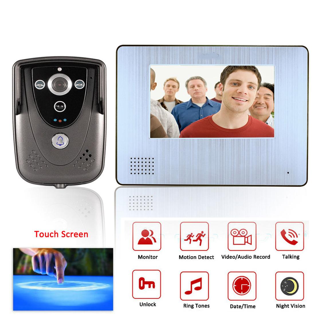 """7"""" videotelefon s HD kamerou, záznamem, detekcí pohybu"""